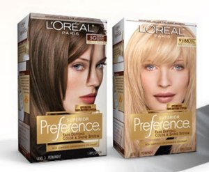 Just one example of boxed hair color